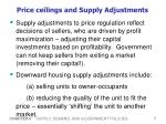 price ceilings and supply adjustments