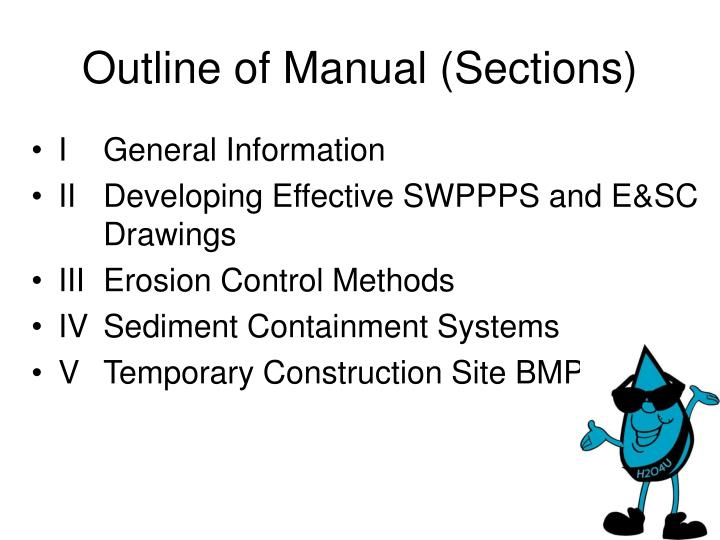 Outline of Manual (Sections)