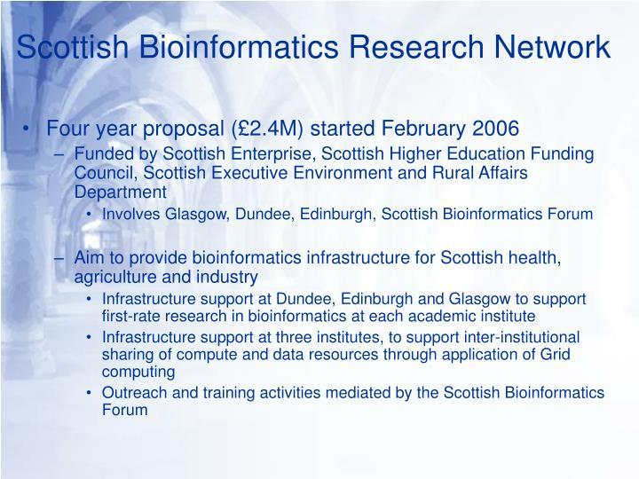 Scottish Bioinformatics Research Network
