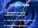 ley de ohm