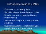 orthopedic injuries msk