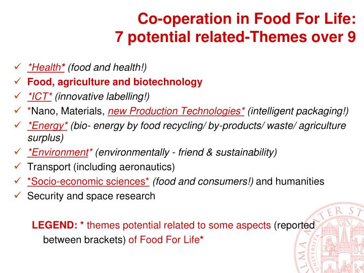 Co-operation in Food For Life: