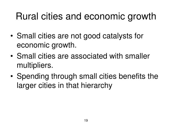 Rural cities and economic growth