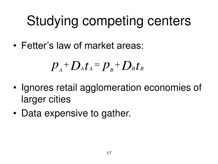 Studying competing centers