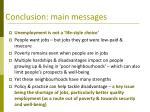 conclusion main messages