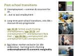 post school transitions