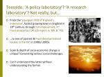 teesside a policy laboratory a research laboratory not really but