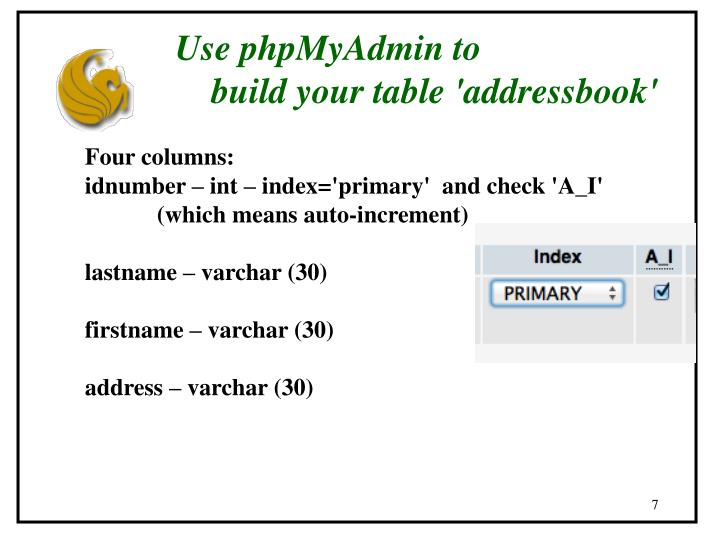 Use phpMyAdmin to