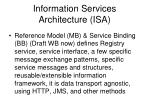 information services architecture isa