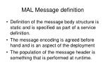 mal message definition