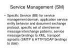 service management sm