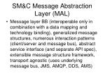 sm c message abstraction layer mal