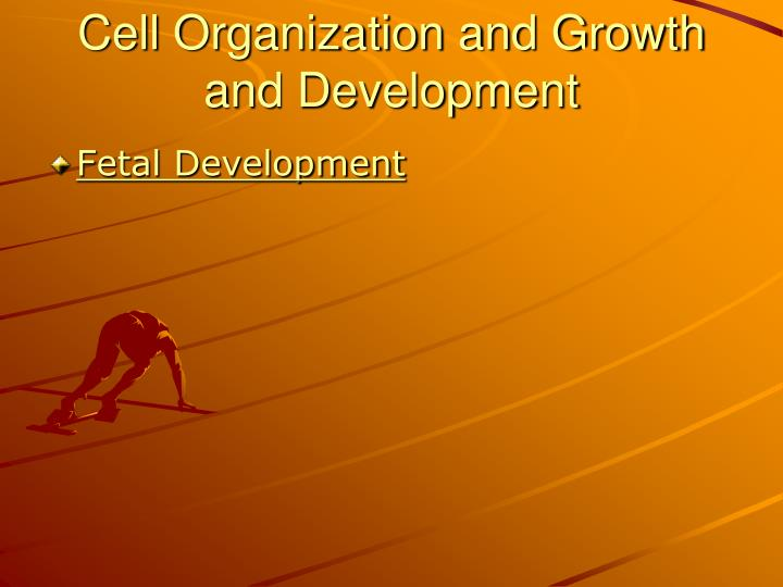 Cell Organization and Growth and Development