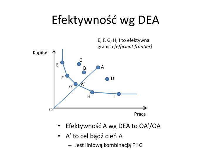 Efektywność wg DEA