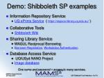 demo shibboleth sp examples