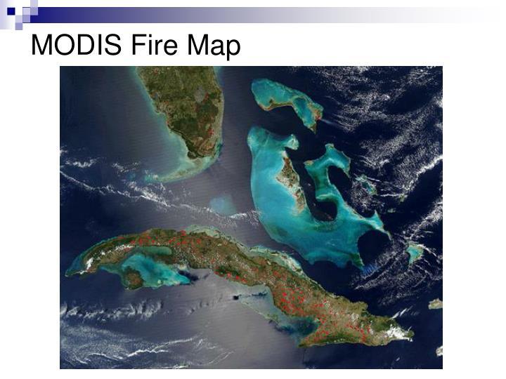 MODIS Fire Map