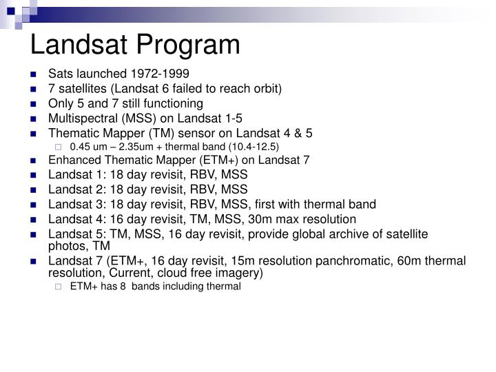 Landsat Program