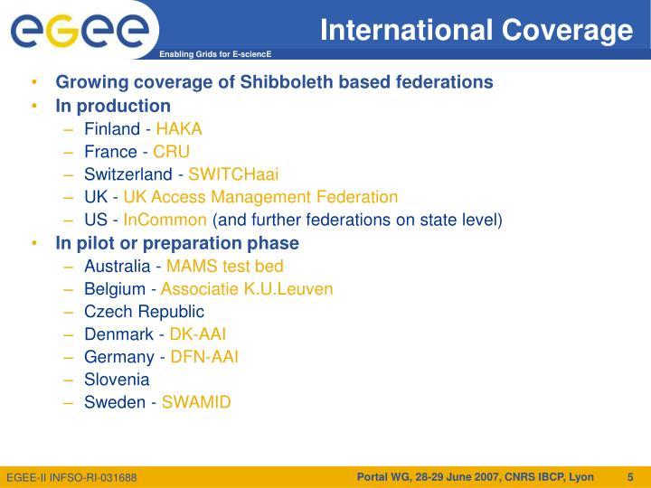 International Coverage