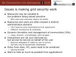 issues is making grid security work