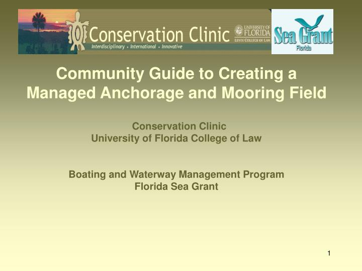 community guide to creating a managed anchorage and mooring field n.