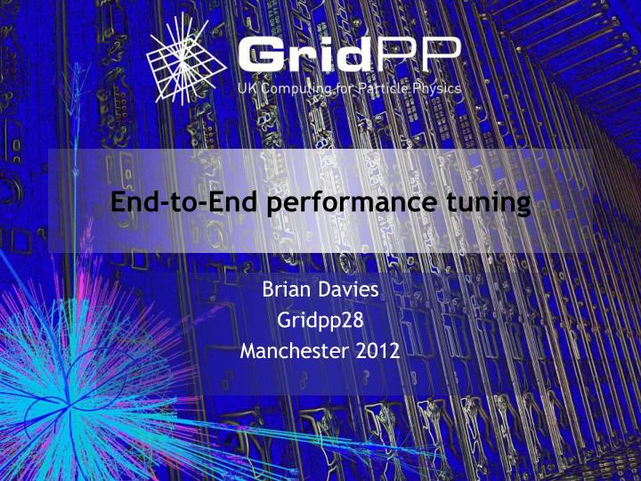 End to end performance tuning