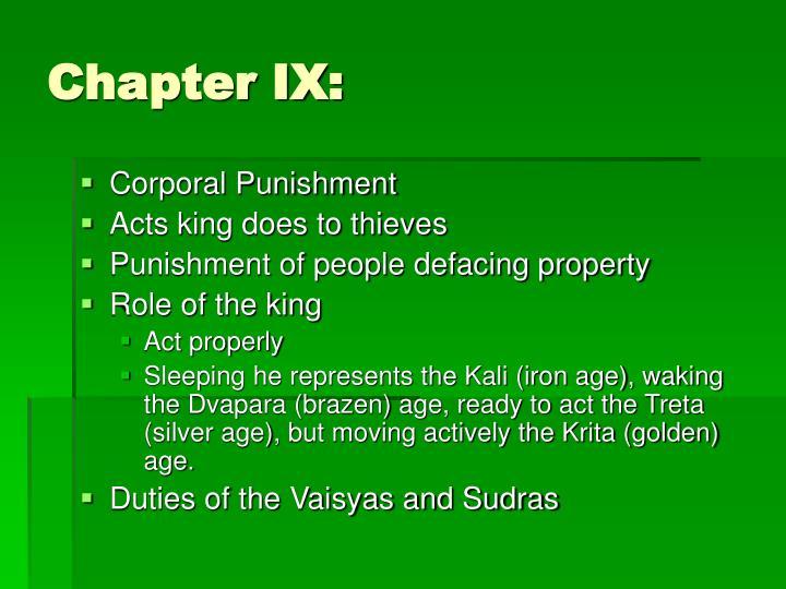 Chapter IX: