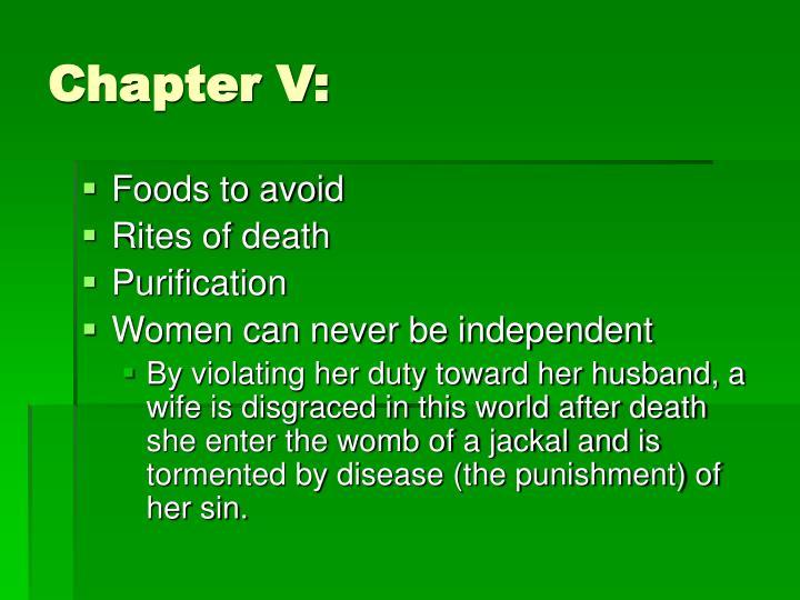 Chapter V:
