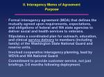 ii interagency memo of agreement purpose
