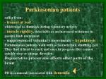 parkinsonian patients