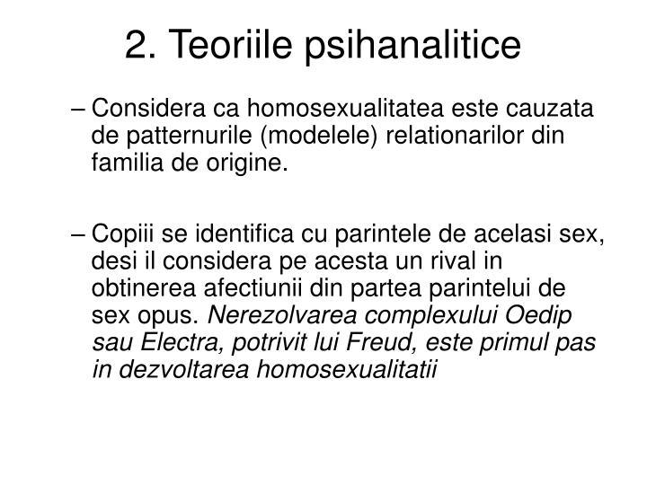 2. Teoriile psihanalitice