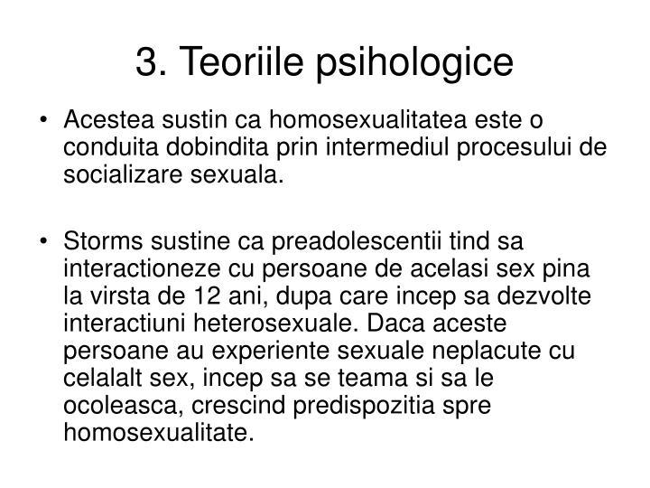 3. Teoriile psihologice