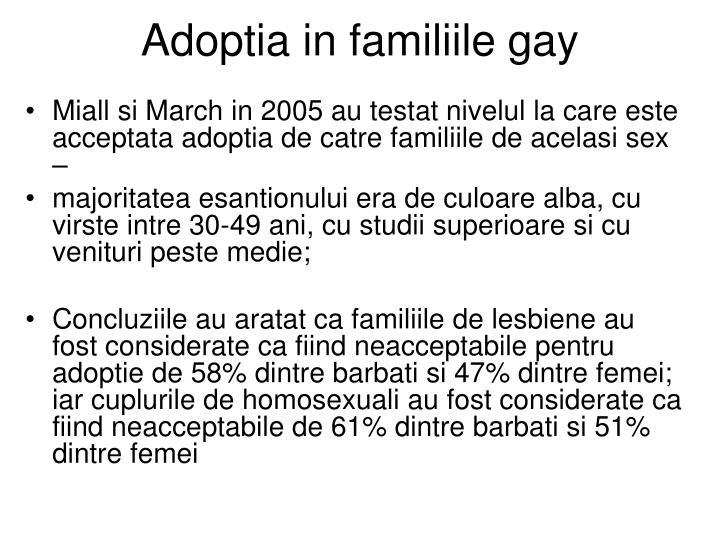 Adoptia in familiile gay