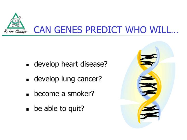 Can genes predict who will