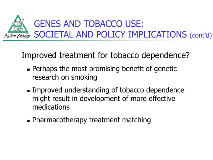 GENES AND TOBACCO USE: