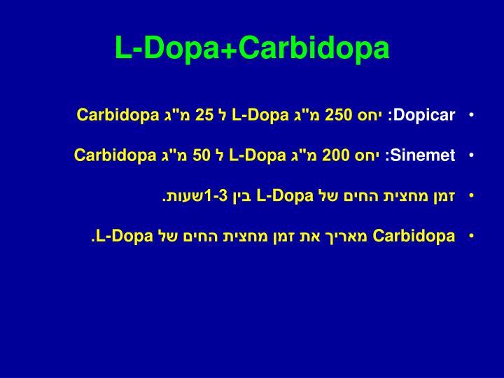 L-Dopa+Carbidopa