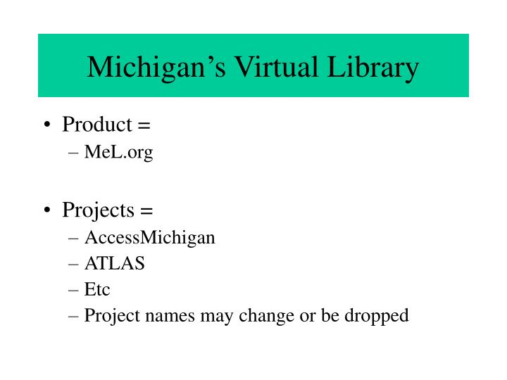 Michigan's Virtual Library