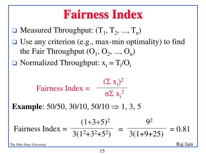 Fairness Index