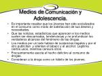 medios de comunicaci n y adolescencia