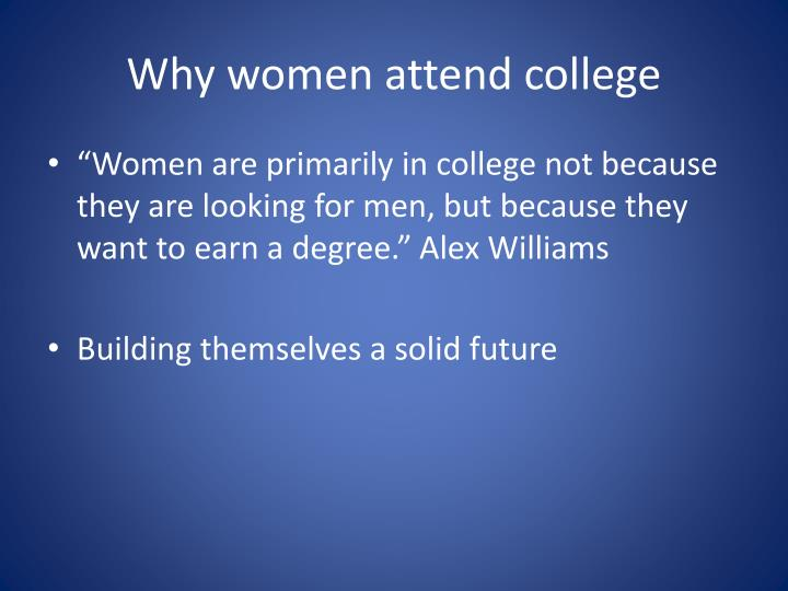 Why women attend college