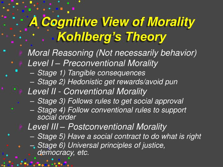 A Cognitive View of Morality