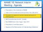 mame ye network interim meeting agenda1
