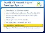 mame ye network interim meeting agenda4