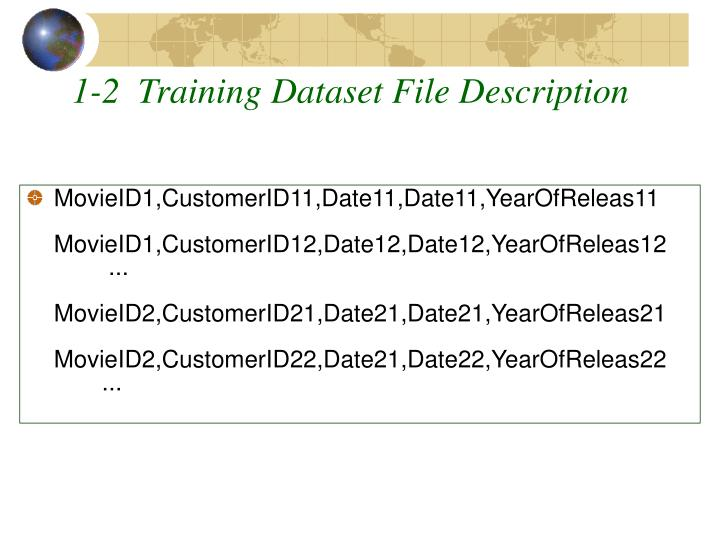 1-2  Training Dataset File Description