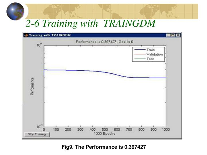 2-6 Training with  TRAINGDM