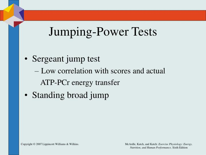 Jumping-Power Tests