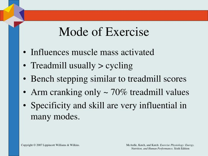 Mode of Exercise