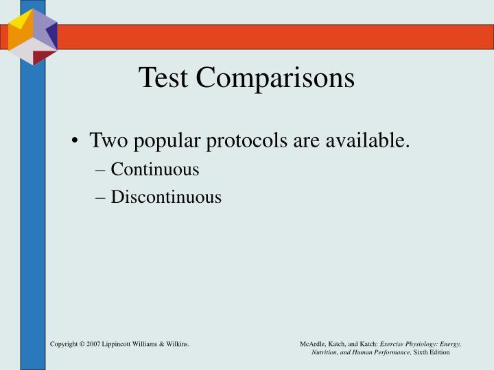 Test Comparisons