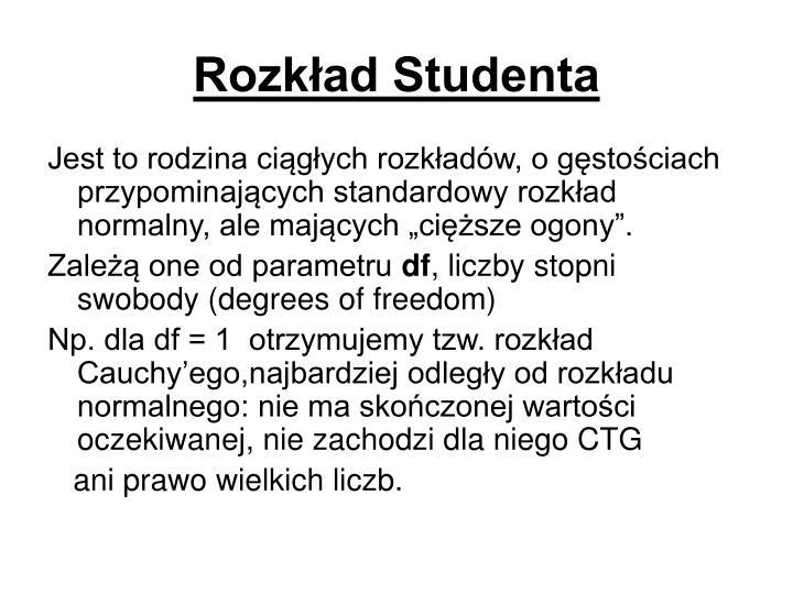 Rozkład Studenta