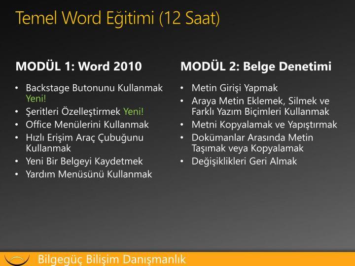 Temel word e itimi 12 saat1