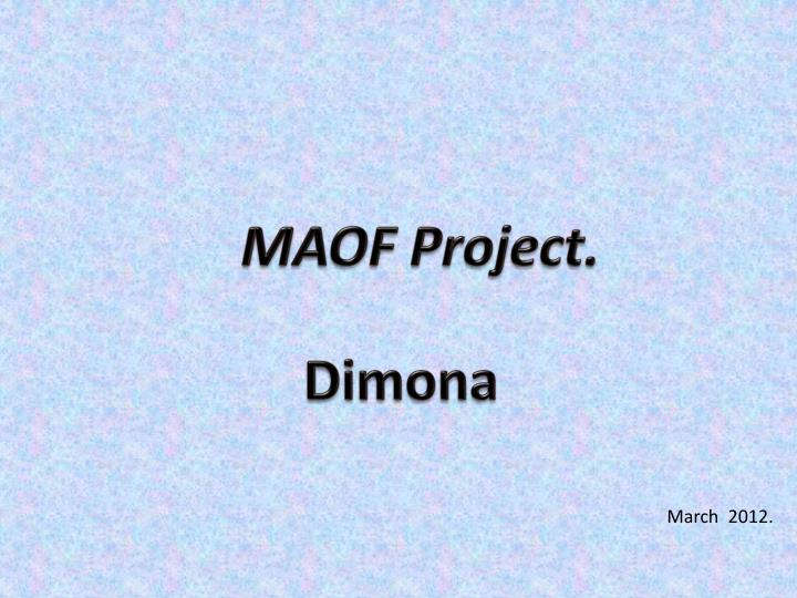 MAOF Project.